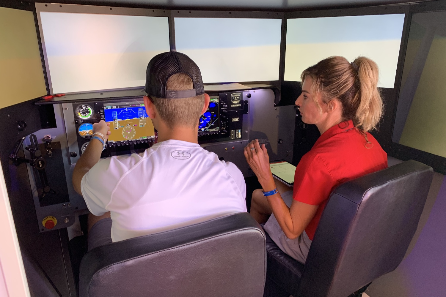 Student and Instructor in MCX simulator