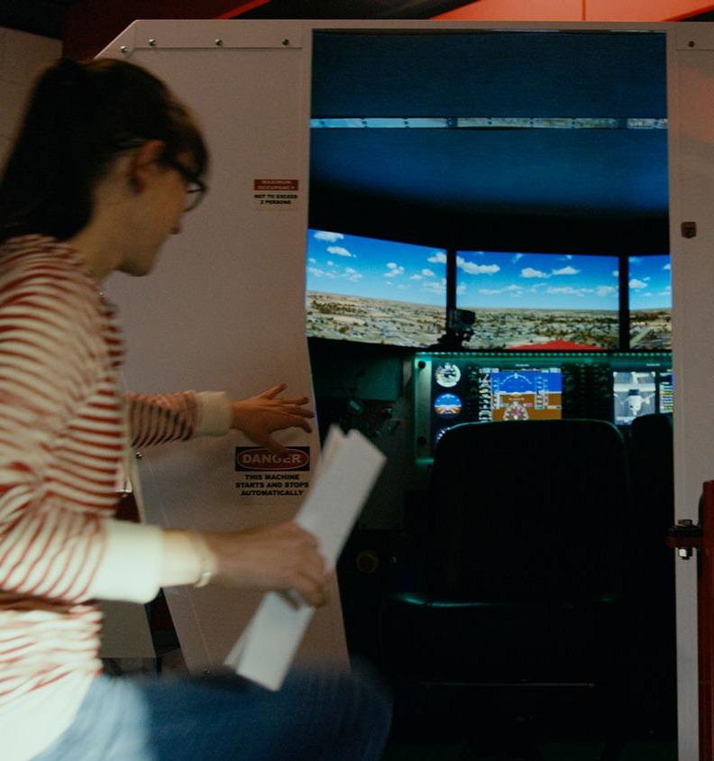 Flight Training in a Redbird